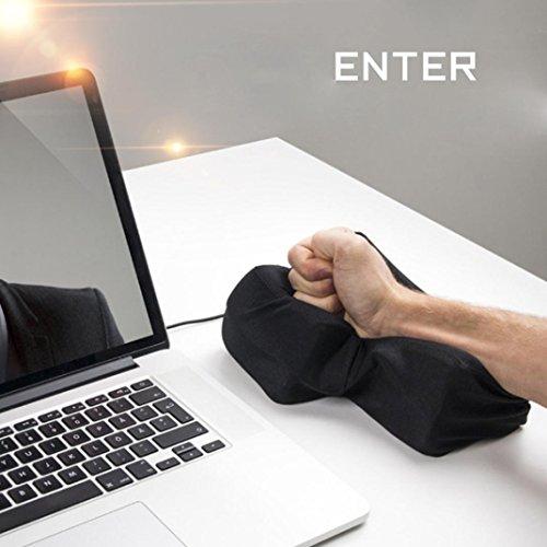Entrer la clé de l'oreiller, GreatestPAK USB Pillow Anti-stress Relief Super Size Entrer la clé Unbreakable (140 * 200mm, Noir)
