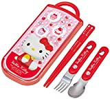 [Hello Kitty] Cutlery Set (Child-sized Spoon & Fork & Chopstick) by Hello Kitty