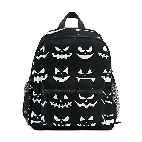 COOSUN Scary Halloween Kürbis-Gesichter Mini Kinderrucksack Pre-School Kindergarten Kleinkind-Tasche Mehrfarbig