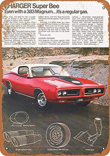 YASMINE HANCOCK 1971 Dodge Charger Super Bee 383 Magnum Metall Plaque Zinn Logo Poster Wand Kunst Cafe Club Bar Wohnkultur