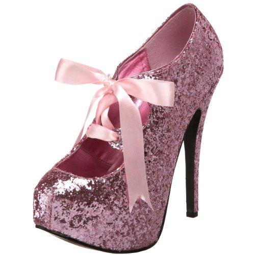 Baby Burlesque Kostüm - pleaser Damen Teeze-10g, Baby Pink Glitter, 37 EU