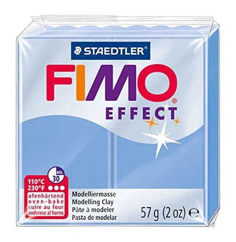 Staedtler - Fimo Effect - Pain Pâte à Modeler 57 g Effet Pierre Précieuse Bleu Agate