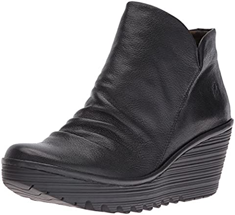 Fly London Yip, Damen Kurzschaft Stiefel, Schwarz (Black 017), 37 EU (4 Damen UK)