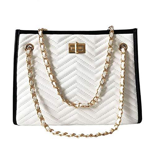 WYLNSTB Damentasche Handtaschen Damen Taschen Designer Tote Casual Leder Kette Große Umhängetasche Umhängetaschen Für Damen Kanäle Tragbare Umhängetasche