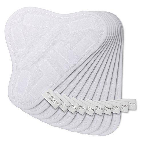 OuyFilters de Remplacement Lavable en Microfibre pour Mop Vapeur Nettoyeur de Sol Coussinets couvertures pour H2O H20X5(9.8x 7in) Pack of 10