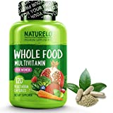 NATURELO Whole Food Multivitamin for Women - #1 Ranked - Natural Vitamins, Minerals, Raw Organic Extracts - Best Supplement for Energy and Heart Health - Vegan - Non GMO - 120 Capsule