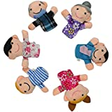 Panda Superstore Finger Story Telling Puppets for Baby (2.7-3.5) - Set of 6