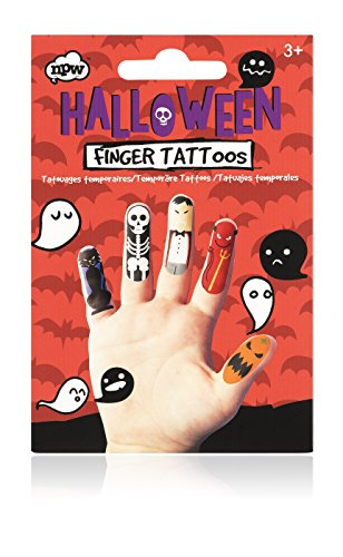 NPW NP25019 Halloween Finger Tattoo