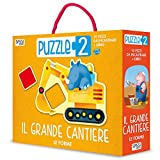 Le forme. Il grande cantiere. Puzzle 2. Ediz. a colori. Con puzzle