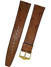 Fortis Swiss Reloj de pulsera piel marrón con costura marrón 18mm Oro 8796