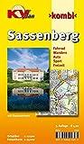 Sassenberg: 1:12.500 Stadtplan inkl. Hausnummern und Gehöftnamen. Freizeitkarte 1:25.000 inkl. Radroutennetz (Radelpark Münsterland), Nordic-Walking-Strecken und Reitwegen (KVplan Münsterland-Region) -
