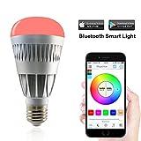 MagicHue Neu Farbige Leuchtmittel Smart LED Bluetooth Lampe dimmbar Sonnenaufgang E27 und E26 16 Mio...