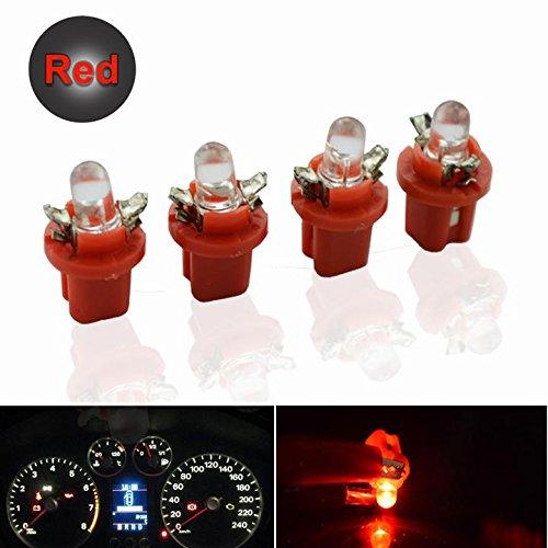 Preisvergleich Produktbild Packung mit 10 Stück T5 B8.5D SMD weiß rot gelb Auto LED Panel; Glühbirnen für Bündelanzeige; Innenbeleuchtung