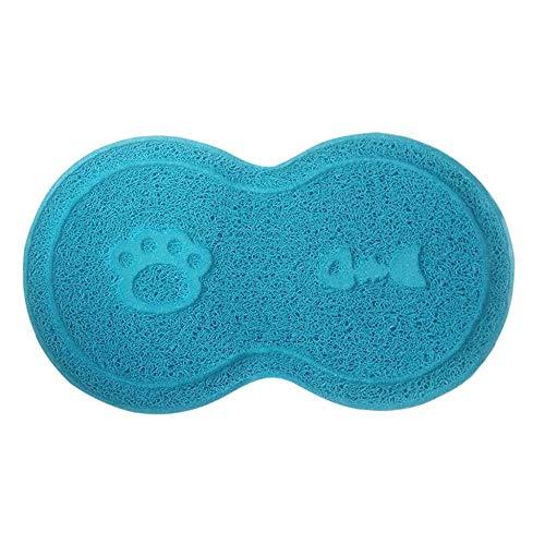 Tonsee Haustier Platzmatte Futtermatten Hund Katzen Nahrungsmittel Nette Form Matten Schüssel Placemat Aus Silikon Für Hunde Katzen Wasserdichtes Rutschfeste Zufuhr Tischset (Blau)