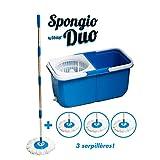Eimer mit Wischmopp 'Turbo Mop Spongio', 360-Grad-Mopp, inkl. 4 feuchten Reinigungstüchern, 2 separate Behälter