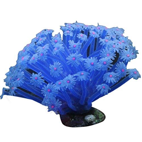 LUFA Anémone de mer artificielle imité ornements de corail 15 * 10cm pour aquarium décoration Aquarium