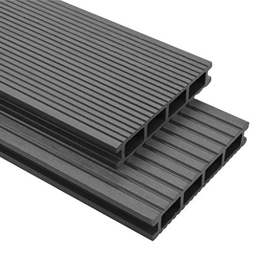 vidaXL WPC Terrassendielen 40m² 4m 25mm Grau Komplettbausatz Komplettset Diele