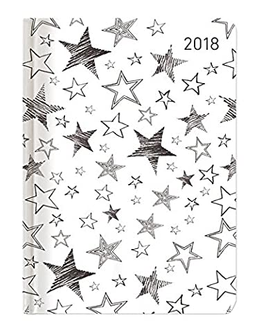 Minitimer Style Sterne 2018 - Taschenplaner / Taschenkalender A6 - Weekly - 192 Seiten