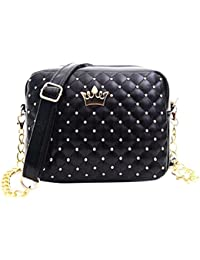Blingg Rivets And Crown Sling Bag Gift For Women's & Girl's/Fashionable Sling Bag For Women/Women Stylish PU Leather...