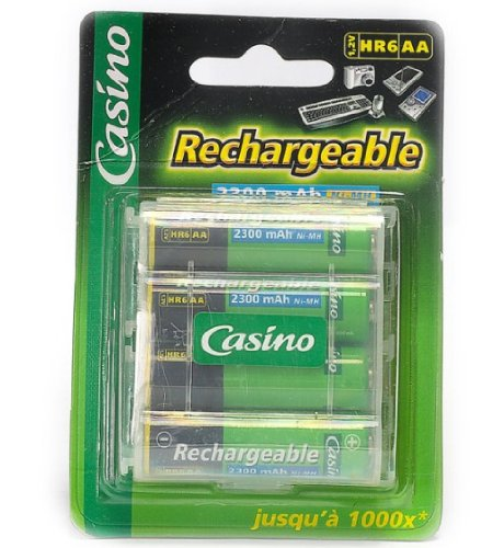 Casino - Uniross - Paquet de 4 accus HR6/AA - 1,2V - 2300 mAh - Ni-MH