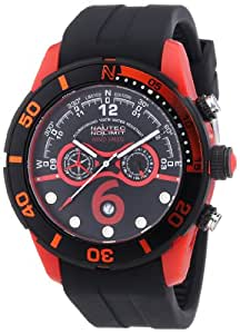 Nautec No Limit Herren-Armbanduhr XL Zero-Yon 2 Chronograph Quarz Kautschuk ZY2-6 QZ/RBPCBKBK-RD