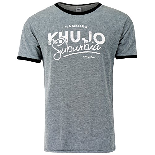 Khujo T-Shirt TANSLEY, Navy Anthracite