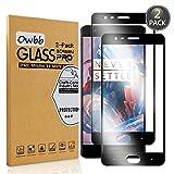 Owbb [2 Stück] Schwarz Gehärtetes Glas Display schutzfolie Für Oneplus 3 / Oneplus 3T Full Coverage Schutz 99% High Transparent Explosionsgeschützter Film