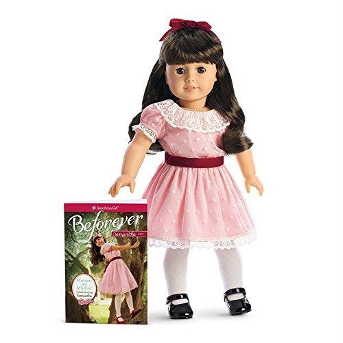 American Girl - Beforever Samantha Doll & Paperback Book by American Girl (American Braune Puppe Girl Haare)