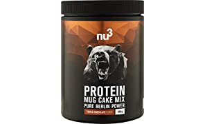 nu3 Protein Mug Cake Mix | 400 g Triple chocolate baking powder | 24 g of protein per serving | Chocolate cupcake | Fitness snack with extra protein | without preservatives | Quick preparation