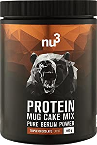 nu3 Protein Mug Cake Mix | 400 g Triple Chocolate Backmischung | 24 g Protein...