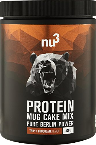 nu3 Protein Mug Cake Mix – 400 g Triple Chocolate Backmischung – 24 g Protein pro Portion – Schoko-Tassenkuchen…