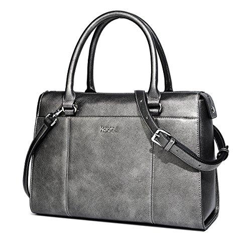 1f9111af1d770 Kadell PU Leder Frauen Handtaschen für Damen Luxus Top Griff Schulter  Geldbörse Nickel schwarz Nickel schwarz