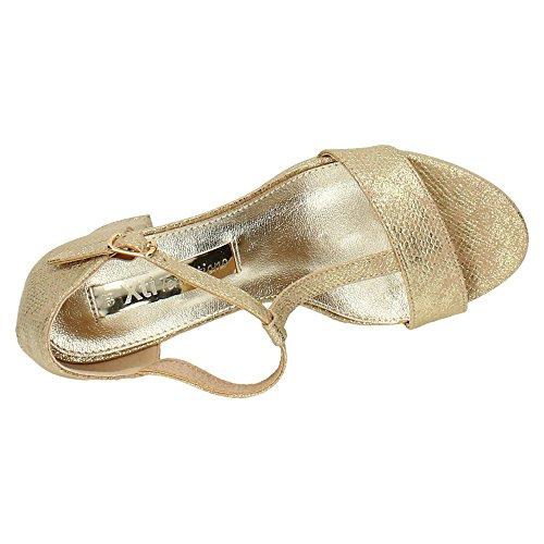 XTI , sandales femme Or
