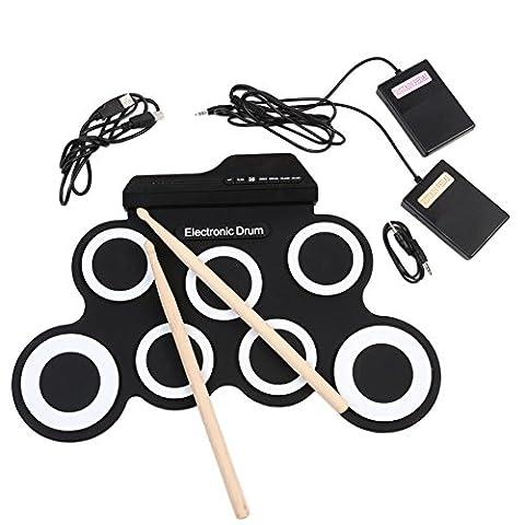 Ensembles de batterie électronique Kit de batterie à tambour pliable