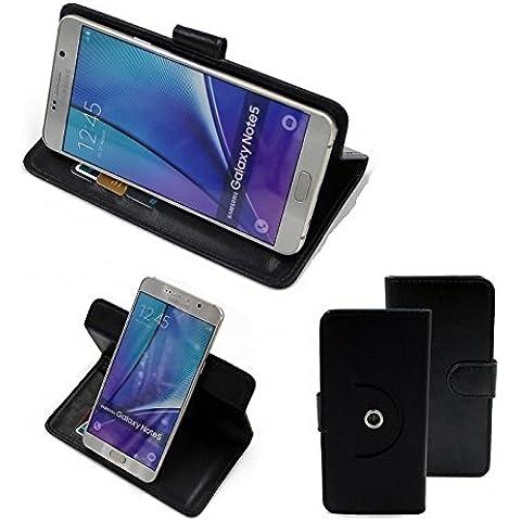 360 ° della copertura della cassa Smartphone 16325, nero | Cassa del raccoglitore stand funzione Bookstyle. Migliore prezzo, migliore prestazione - K-S-Trade