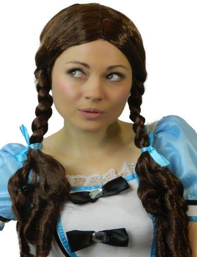 Yummy Bee - Perücke Dorothy Zöpfe Karneval Fasching Kostüme Schulmädchen Geflochten ()