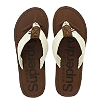 Superdry Cove Sandal - Brown-Winter White (Textile) Mens Sandals Large (10 UK/11 UK)