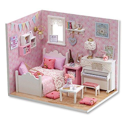 Handmade Miniatur Kit- LED Princess Schlafzimmer Modell & alle Möbel ()