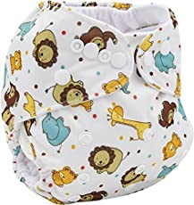 LUKZER Reusable Adjustable Washable Cloth Diaper Nappy Inner Cloths for Babies, 0 to 2 Years (Random Colour) - Set of 1 with 1 Diaper-Liner