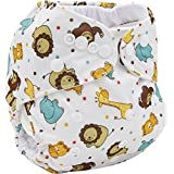 Lukzer Reusable Adjustable (for All Sizes) Washable Cloth Diaper Nappy Pack of 1 with 1 Diaper Liner (Inner Cloths) for Babies of Ages 0 to 2 Years, Random Color