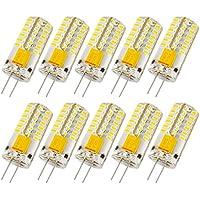 Liqoo® 10x G4 AC DC 12V lampada LED lampadina 3W 230 Lumen bianco caldo/freddo lampadina Angolo Sostituisce fascio 20W 360º13x 37 millimetri non regolabile