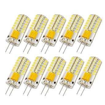 liqoo 10 x g4 ampoule led lampe spotlight 3w ac dc 12v 220 lumen blanc chaud equivalente l. Black Bedroom Furniture Sets. Home Design Ideas