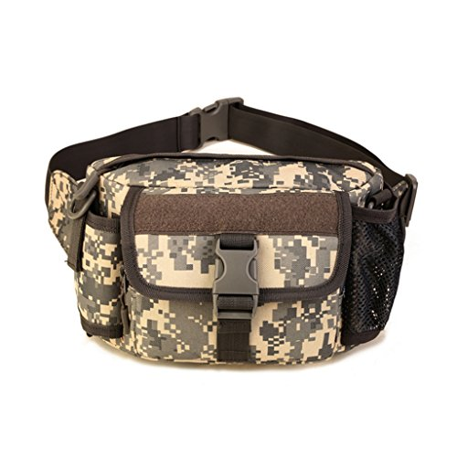 Cinmaul Tactical marsupio militare spalla sport borsa zaino per campeggio escursionismo, Uomo, Orange ACU Camouflage