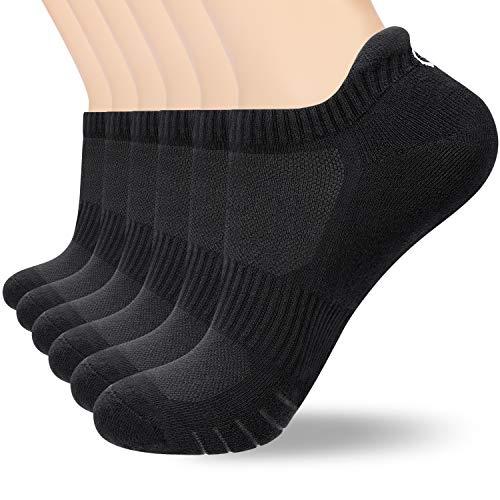 coskefy Sneaker Socken Herren Damen (6x Paar) (12x Schwarz, M(39-42))