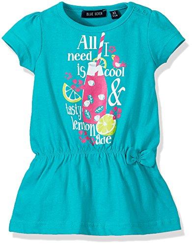 Blue Seven Baby-Mädchen Kleid Wirkkleid RH, Grün (Lagune 667), 68