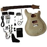 GD820 acajou Voûte haut corps avec matelasséérable Veneer avec blanc reliure sur Corps guitare électrique à bricoler soi-même Kit pour Student and luthier projets