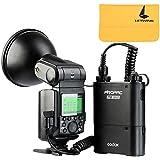 Godox Speedlite Flash Externe Portable AD360II-N TTL 1/8000s 360W GN80 avec PB960 4500mAh Lithium PowerPack Pour Nikon Caméras Appareils Photo Reflex