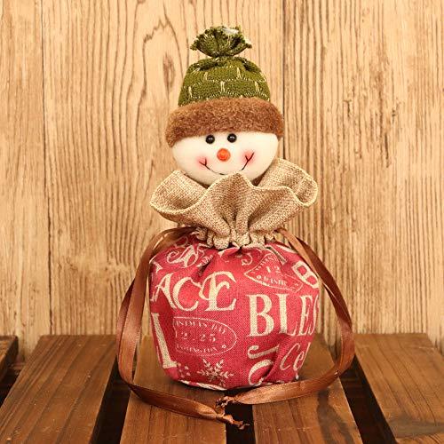 (Amphia Geschenk Schmuckbeute - Santa Claus Snowman Elk Christmas Candy Verpackung Apple Box Dekoration(Größe:Über12*30cm))