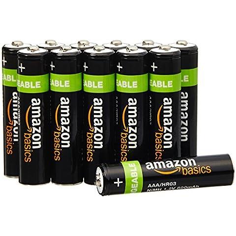 AmazonBasics - Pilas recargables NiMH (El embalaje puede variar)