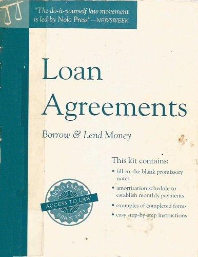 Nolo Law Form Kit: Loan Agreements : Borrow and Loan Money (NOLO'S LAW FORM KIT: LOAN AGREEMENTS) por Stephen Elias